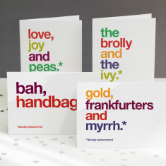 Autocorrected funny Christmas cards (pack of 4)