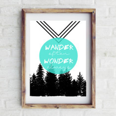 Wander often Wonder always print