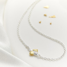 Gold Vermeil & Sterling Silver Honey Bee Necklace