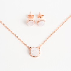 Darling Rose Gold Diamond in the Rough Set (5 Colours available)