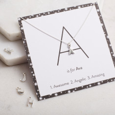 Personalised Art Deco Letter Necklace