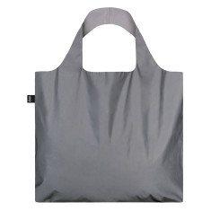 LOQI reflective collection shopping bag silver