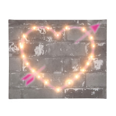 Light-up graffiti heart canvas