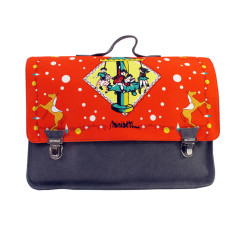 Red carousel satchel in grand & petite plus