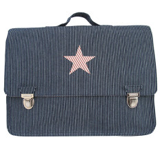 Petite satchel in red star with blue stripes
