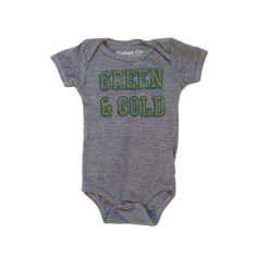 Green and gold vintage grow suit