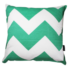 Chevron cushion cover in green