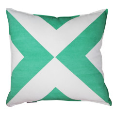 Green cross cushion cover