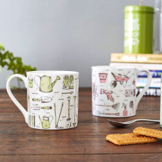 Green Fingered Gardening fine bone china mug