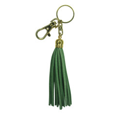 Leather tassel key ring (various colours)