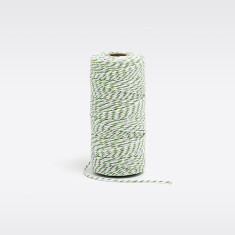 Lime green & white bakers twine