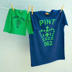 Matching pint tee & half pint long sleeve set (various colours)