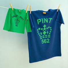 Matching pint tee & half pint long sleeve set (various colours)