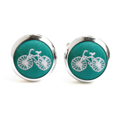 Green Bike Cufflinks