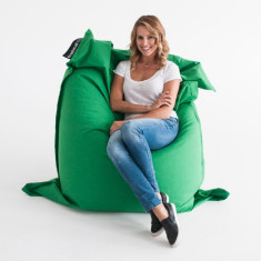 Green bean bag cover