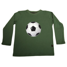 Soccer ball long sleeve t-shirt (various colours)