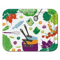 Kitchen rectangular tray