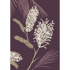 Grevillea art print in aubergine