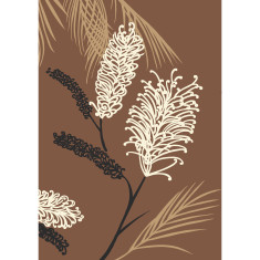 Grevillea art print in chocolate