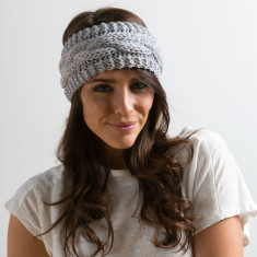 Hand-knitted pure wool headband (various colours)