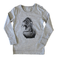 Brocky bear long sleeved t-shirt in grey