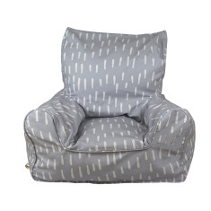 Kids' grey raindrops beanbag chair cover
