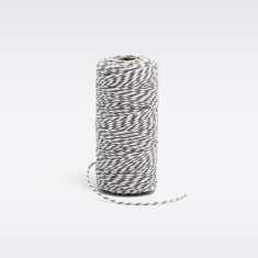 Grey & white bakers twine