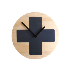 Objectify Grey Cross Wall Clock