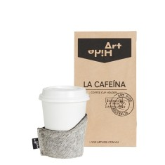 La Cafeina coffee cup holder in grey