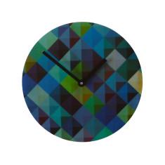 Objectify Grid2 Wall Clock - Blue