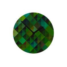 Objectify Grid2 Wall Clock - Green