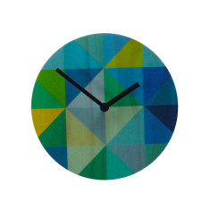 Objectify Grid Wall Clock  - Blue/Green