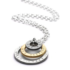 Personalised group hug necklace