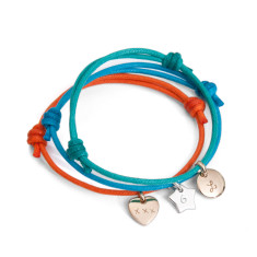 Children's personalised initial charm bracelet