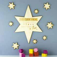 Personalised Born To Be A Star Wooden Sign