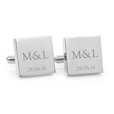 Personalised classic couple monogram cufflinks