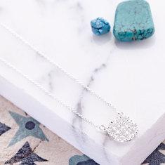 Anaar Pendant Necklace in silver