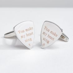 Personalised Guitar Pick Cufflinks