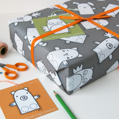 Finger Puppet Interactive Wrapping Paper Set
