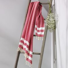 Bronte Turkish Towel Ruby Red