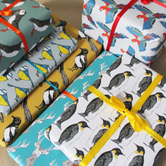 Mixed Wildlife Gift Wrap (Pack Of 6)