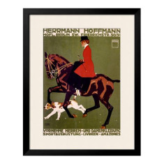 Side saddle vintage equestrian art print