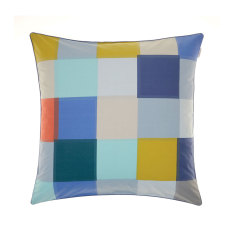 Domino blue European pillowcase