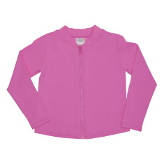 Pink long sleeve sun top for toddlers