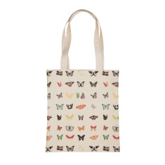 Natural Butterfly Tote Bag