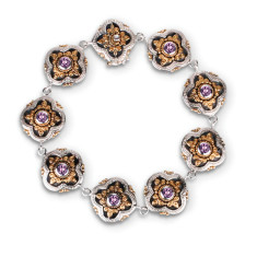 Isobella Sterling Silver & Gold Vermeil Amethyst Bracelet