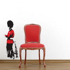 Banksy Guard wall sticker