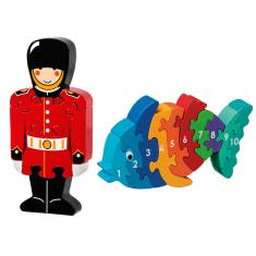 Guardsman and fish jigsaw value pack