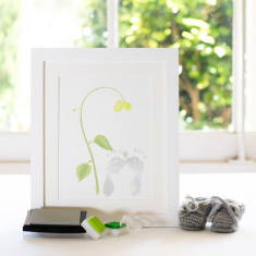 Seedlings newborn footprint stamp gift pack