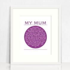 My Mum personalised print